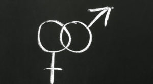 Male and female gender symbols, mars and venus