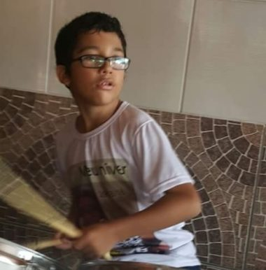MIGUEL, AN ANGEL WITH DRUMSTICKS